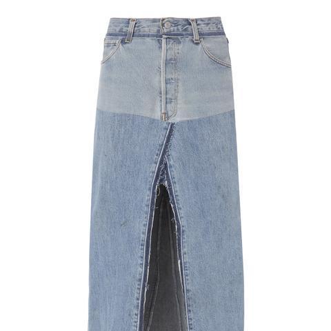 Seamed Midi Skirt