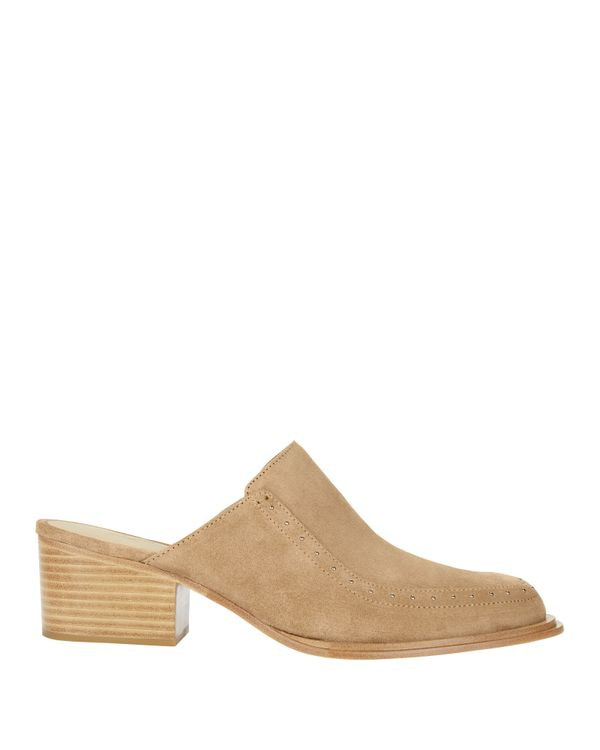 Weiss Studded Suede Mules