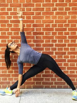 The Leg-Strengthening Yoga Pose That Stretches Your Hips Too
