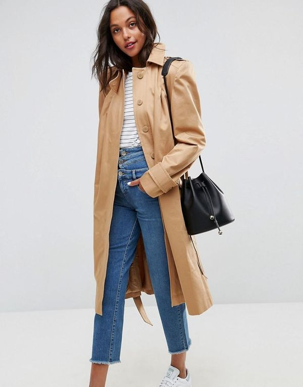 Trench with Extreme Statement Shoulder