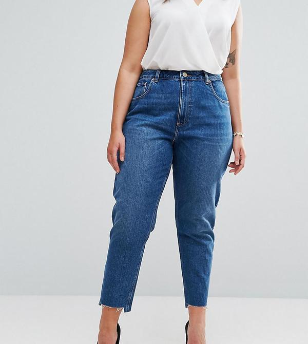 Original Mom Jeans in Harley Wash with Split & Stepped Hem