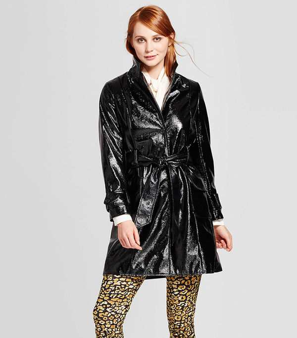 Patent Trench Jacket