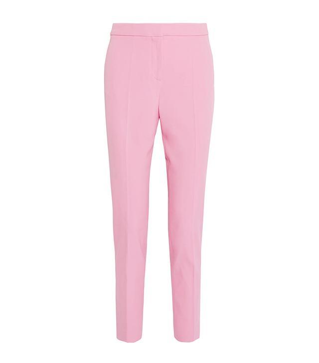 Wool-blend Gabardine Straight-leg Pants
