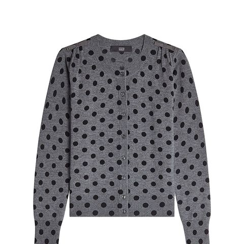 Polka Dot Cardigan in Merino Wool