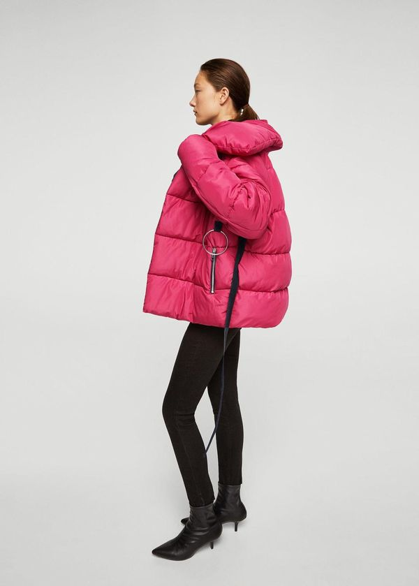 Ring oversize quilted coat