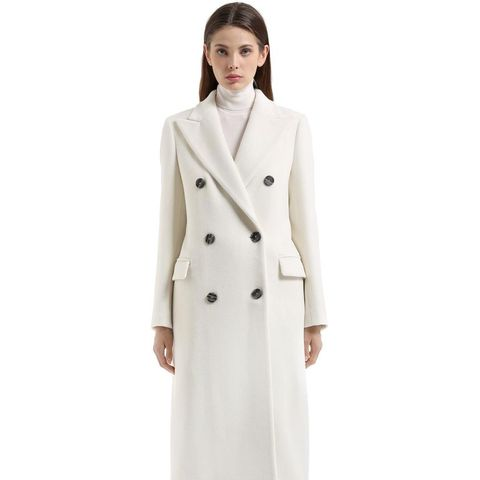 Double Breasted Angora Wool Coat