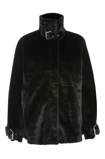 Faux Fur Biker Jacket