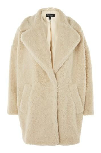 PETITE Borg Cocoon Coat