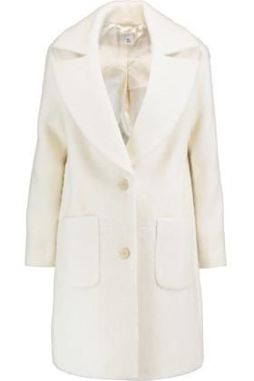 Celia Bouclé Coat in Ivory