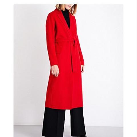 Open-Front Wool-Blend Coat
