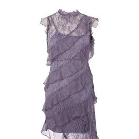 High Neck Lace Shift Dress