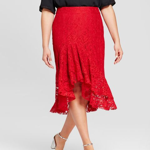 Fluted Lace Skirt