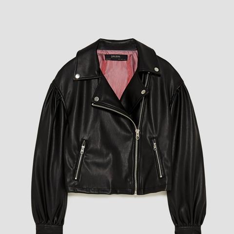 Short Faux Leather Jacket