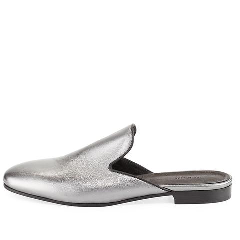Savoy Metallic Flat Mule