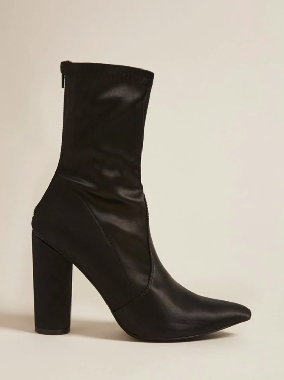 Forever 21 Pointed Satin Sock Boots