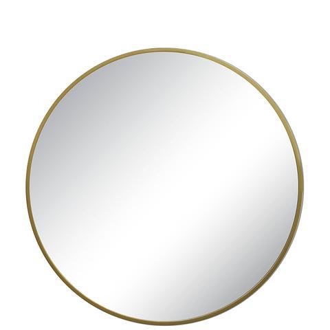 Round Decorative Wall Mirror Brass