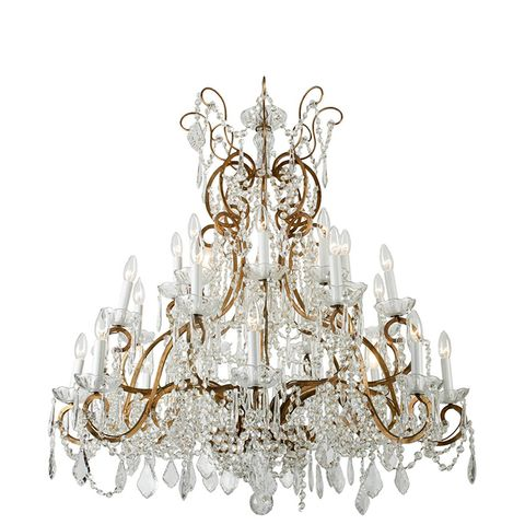 Nineteen Arm Vintage French Crystal Chandelier