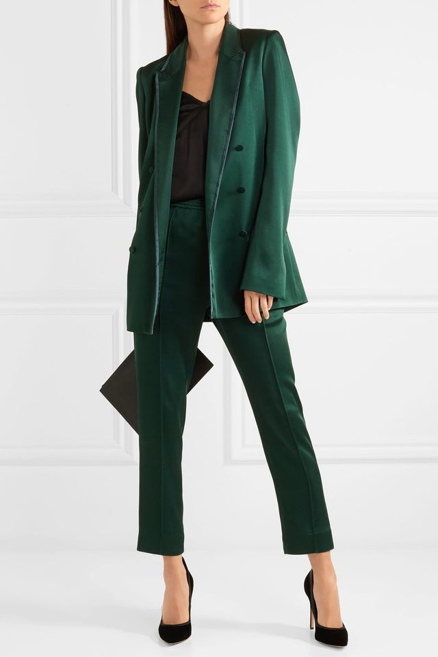 Haider Ackermann Double-Breasted Satin Blazer