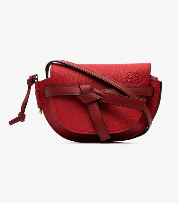 Loewe Red Gate Mini Leather Shoulder Bag