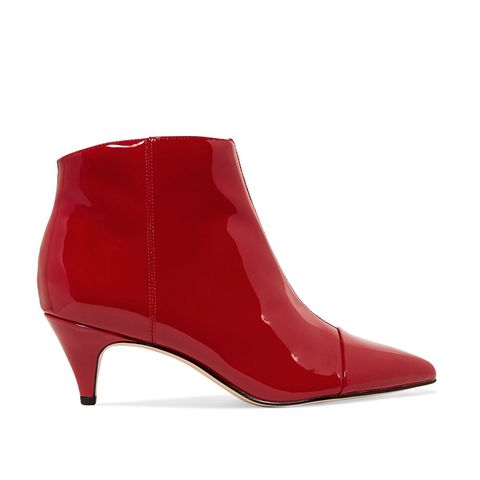 Kinzey Patent-Leather Ankle Boots
