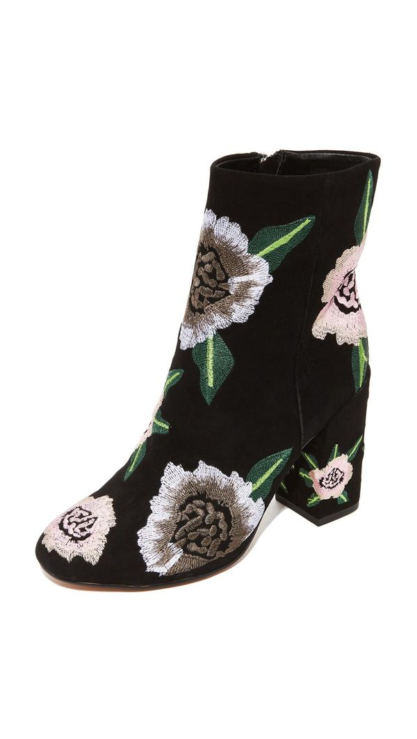 Bryce Embroidered Booties