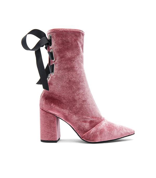 x Robert Clergerie Velvet Kibbont Boots