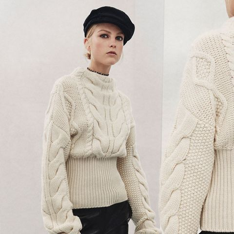 Sweater With Contrasting Hem