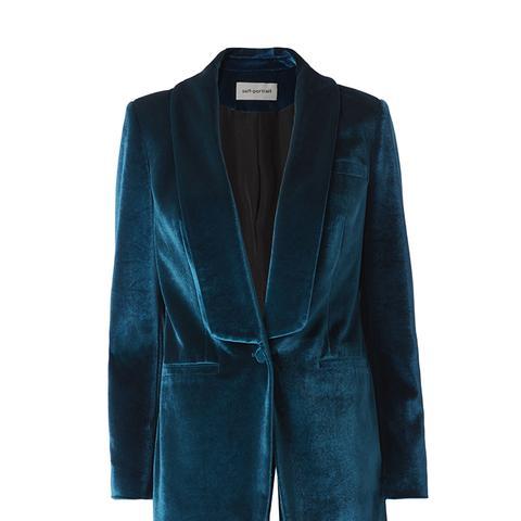 Teal Velvet Jacket