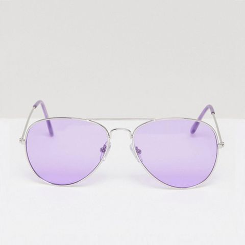 Aviator With Lilac Tinted Lens