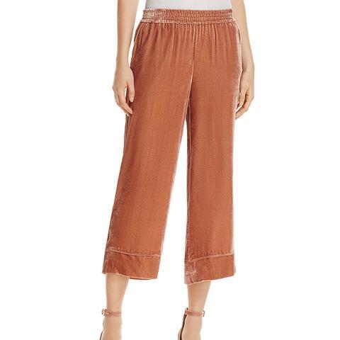 Kaitrine Cropped Velvet Pants