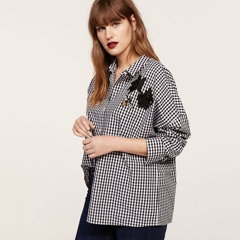 Patched Gingham Check Shirt