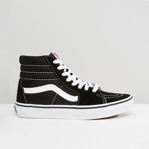 Sk8-Hi Black and White Sneakers