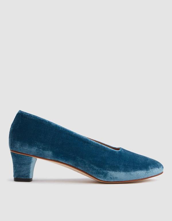 High Glove in Blue Velvet