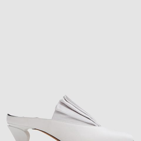 Origami Mules in Bianco
