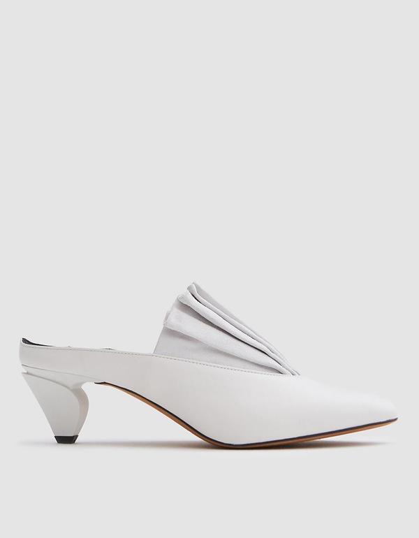 Origami Mule in Bianco