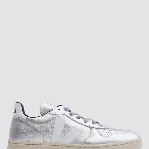V-10 Sneakers in Silver