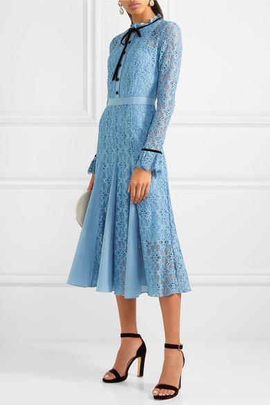 Eclipse Corded Lace Midi Dress