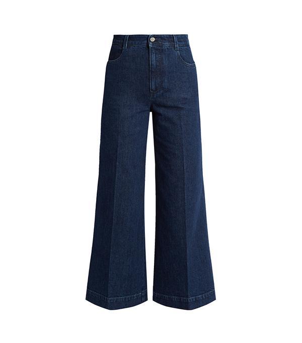 High-rise wide-leg culottes