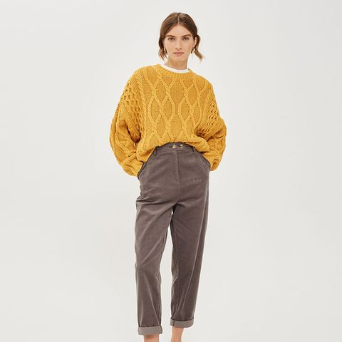 Mini Cord Leg Trousers