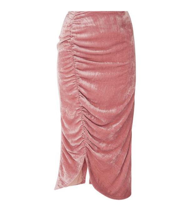 Coral Bay Velvet Gathered Skirt