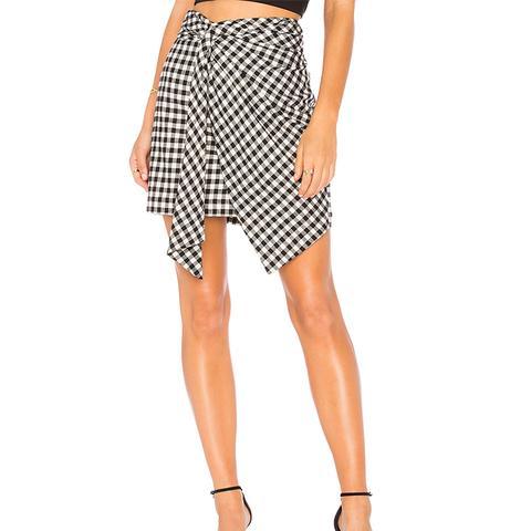 Fiona Wrap Skirt in Black & White