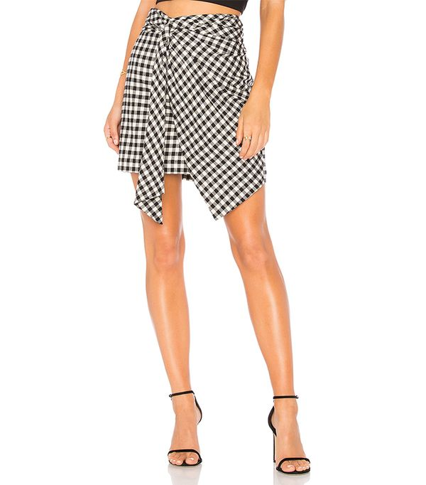 Fiona Wrap Skirt in Black & White. - size L (also in S,XS)