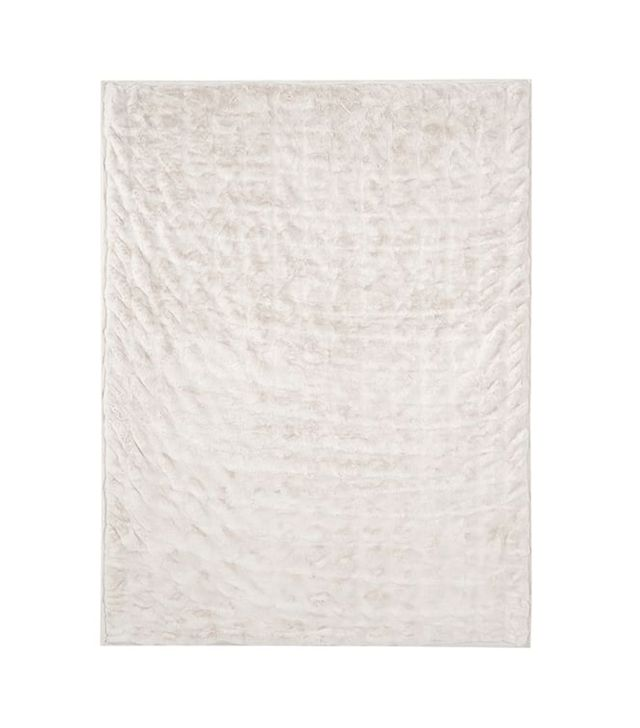 Pottery Barn Ruched Faux Fur Throw
