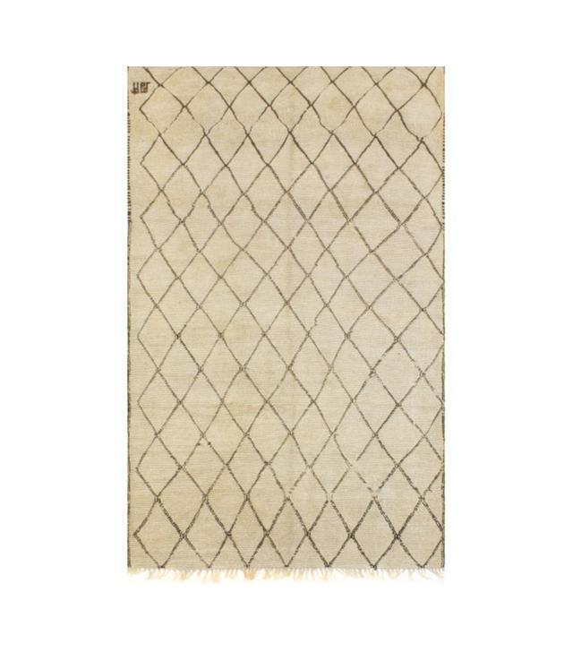 Elte Moroccan Ivory Black Floor Rug