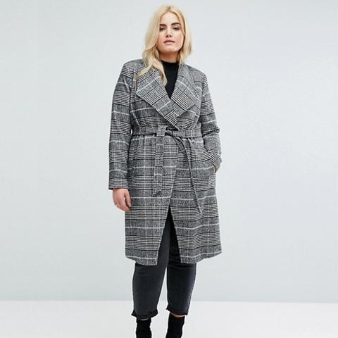 Check Robe Coat