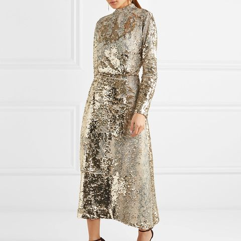 Roma Sequined Midi Dress