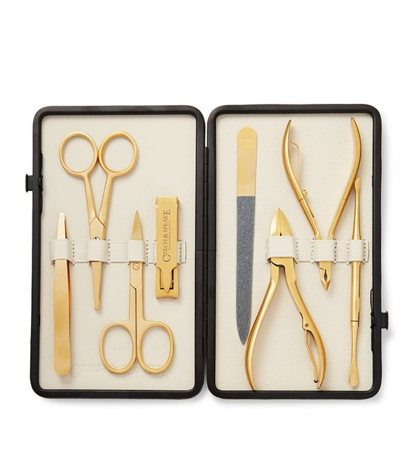 beauty gifts for men: Czech & Speake Leather Bound Manicure Set
