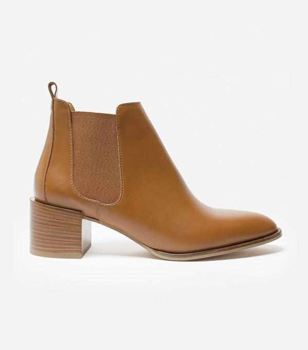 Women's Heeled Booties by Everlane in Cognac, Size 10.5