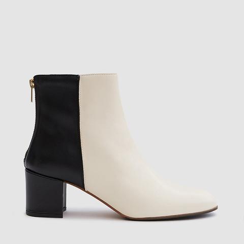 Mei Boots in Pearl/Black