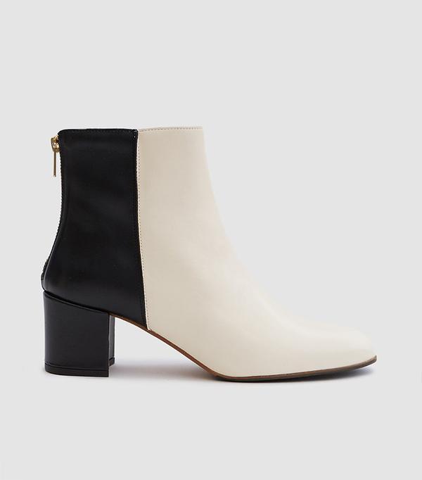 Mei Boot in Pearl/Black